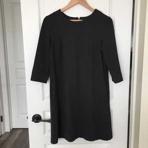 Charcoal Dress with Pockets